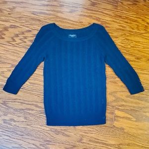 American Eagle Cable Knit Sweater Sz M 3/4 sleeve